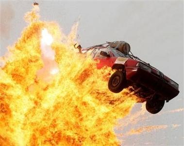Kein Ferrari... aber eine Explosion